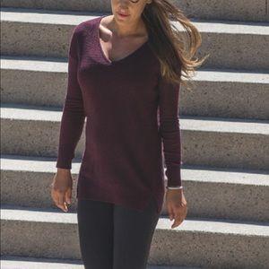 Lululemon sweater life cashmere 12 Bordeaux